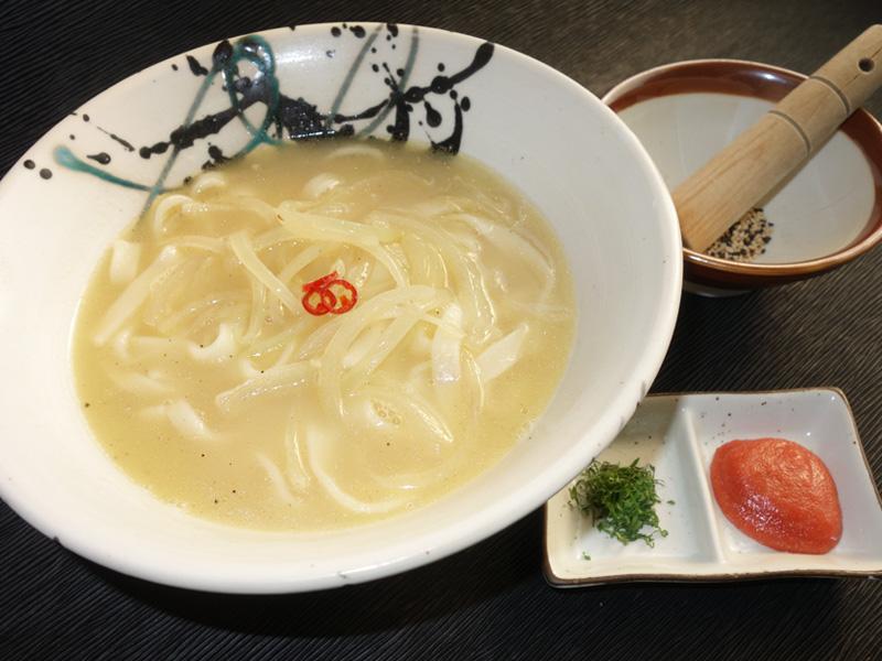 新玉葱と明太うどん 白湯仕立て