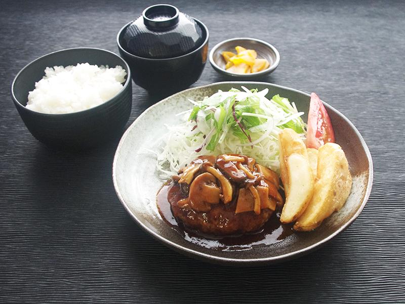 きのこハンバーグ定食