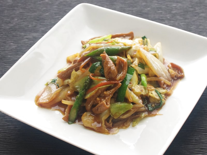 春野菜とホルモン炒め